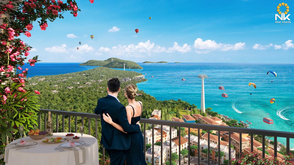 View balcony cáp treo an thoi dự án Sun Grand City Hillside Residences
