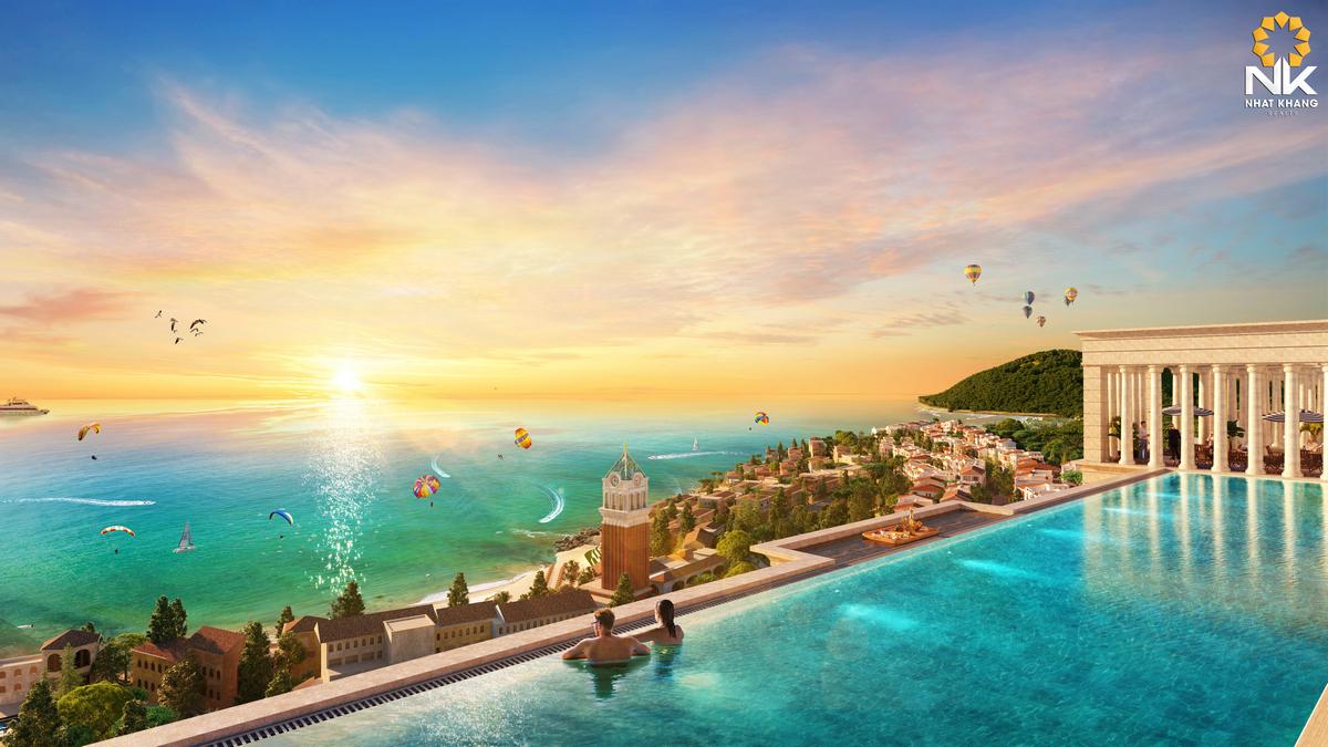 Bể bơi vô cực của Sun Grand City Hillside Residences