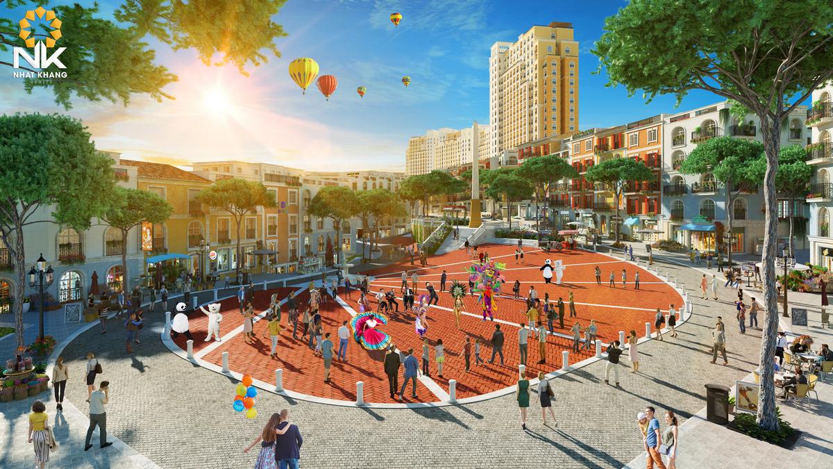 Quảng trường dự án Sun Grand City Hillside Residences